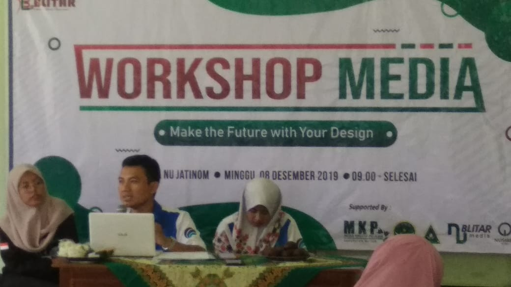 Menjadi Narasumber Workshop Media di Graha NU, Kanigoro